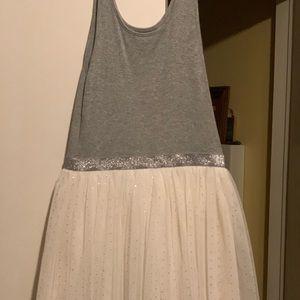 Gray and White Tutu Dress
